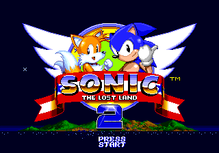 Sonic: The Lost Land 2 Title Screen